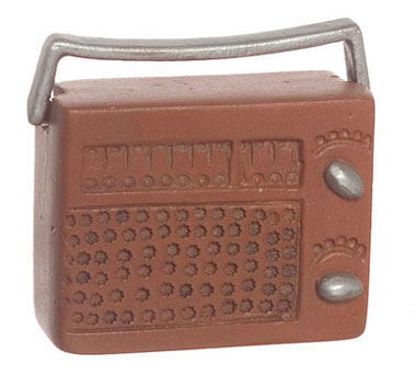 Dollhouse Miniature Radio, 2Pc