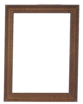 Dollhouse Miniature Wooden Frame 5.9X7.8Cm, Walnut, 2Pcs