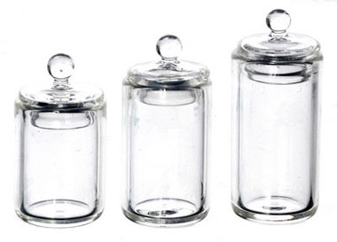Dollhouse Miniature Canister, Set Of 3