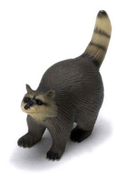 Dollhouse Miniature Raccoon