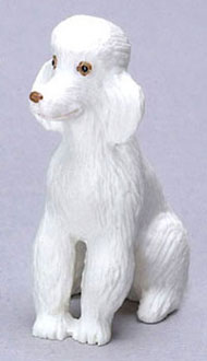 Dollhouse Miniature White Poodle