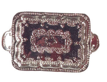 Dollhouse Miniature Silver Tray