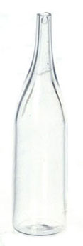Dollhouse Miniature Clear Champagne Bottle