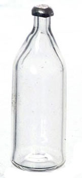 Dollhouse Miniature Clear Beer Bottle