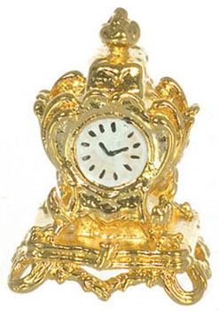 Dollhouse Miniature Mantle Clock