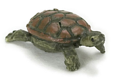 Dollhouse Miniature Turtle, Tan (M)