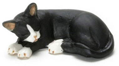 Dollhouse Miniature Cat, Socks