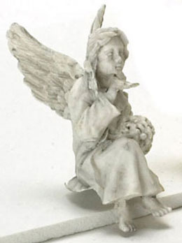 Dollhouse Miniature Sitting Angel, Gray, 1 Pc