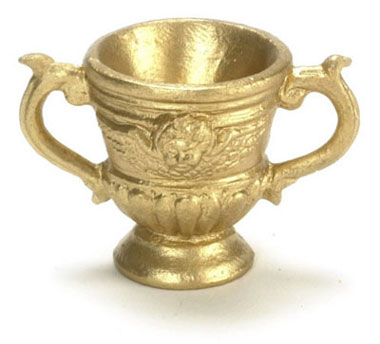Dollhouse Miniature Roma  Urn Gold 1Pc