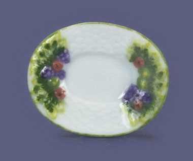 Dollhouse Miniature Oval Platter