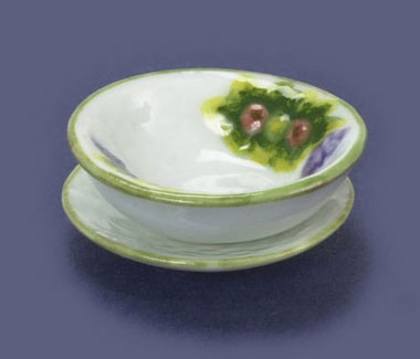 Dollhouse Miniature Bowl & Dish