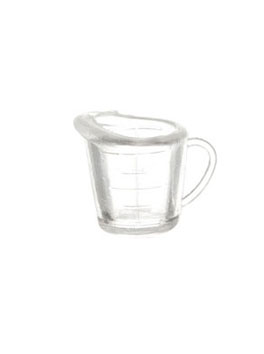 Dollhouse Miniature Clear Plastic Measuring Cup