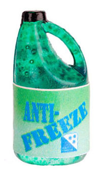 Dollhouse Miniature Gallon Jug Of Green Anti Freeze