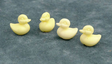 Dollhouse Miniature Yellow Duck Set Of 12
