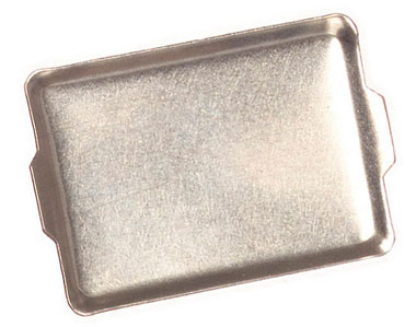 Dollhouse Miniature Silver Cookie Sheets, 6Pc
