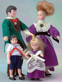 Dollhouse Miniature Victorian Family Of 4