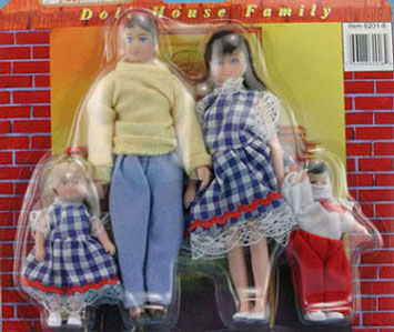 Dollhouse Miniature Family Jones, 4Pc