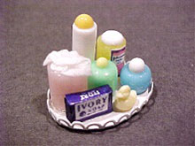 Dollhouse Miniature Baby Tray - Multi