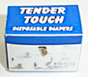 Dollhouse Miniature Tender Touch Disposable Diapers