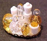 Dollhouse Miniature Small Perfume Tray - Yellow