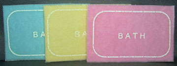 Dollhouse Miniature Bath Mats - Assorted Colors - Yellow