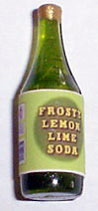Dollhouse Miniature Lemon Lime Soda  1 Liter