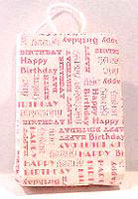 Dollhouse Miniature Happy Birthday Shopping Bag