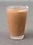 Dollhouse Miniature Glass Of Chocolate Milk