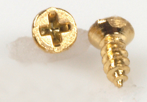 Dollhouse Miniature Small Brass Screws, 20Pc