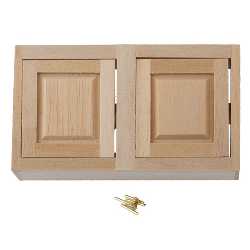 Dollhouse Miniature 3 In Upper Cabinet, Kit