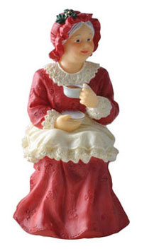 Dollhouse Miniature Sitting Mrs. Santa
