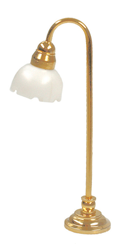 "Dollhouse Miniature 1/2"" Scale: Fluted Shade Floor Lamp"