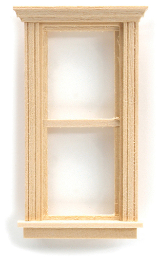"Dollhouse Miniature 1/2"" Scale: Traditional Pediment Window"