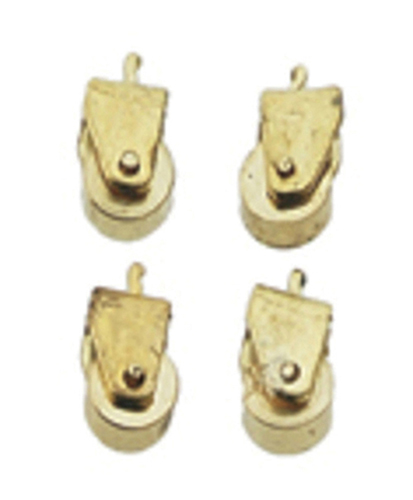 Dollhouse Miniature Brass Casters, 12/Pk