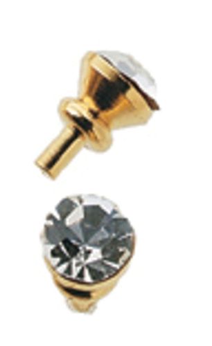 Dollhouse Miniature Crystal Door Knob, 6/Pk