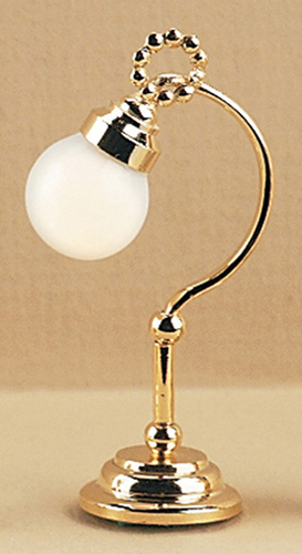 Dollhouse Miniature Victorian Table Lamp W/Globe