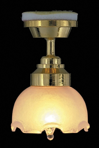 Dollhouse Miniature Large Tulip Ceiling Lamp