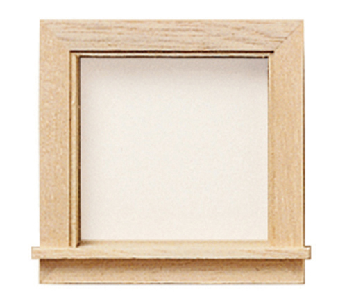 Dollhouse Miniature Glazed Window For Dormer, 2Pc