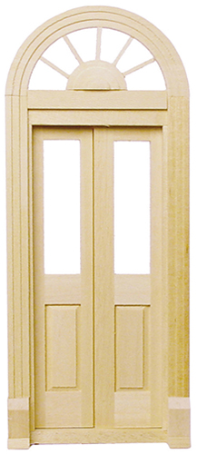 Dollhouse Miniature Palladian French Door