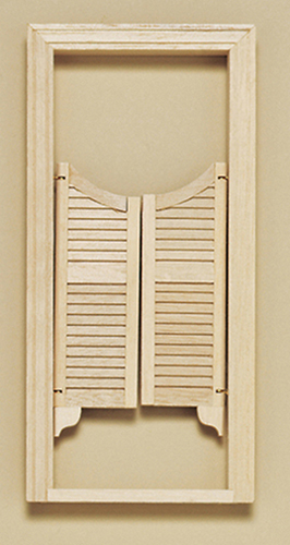 Dollhouse Miniature Saloon Door