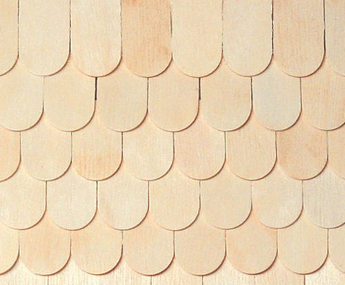 Dollhouse Miniature Fishscale Shingles, 100/Pk
