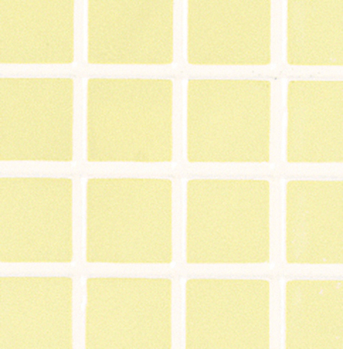 Dollhouse Miniature Pac Tile, Yellow, 11 X 17