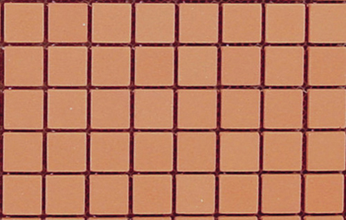 Dollhouse Miniature Mesh Mounted Patio Brick