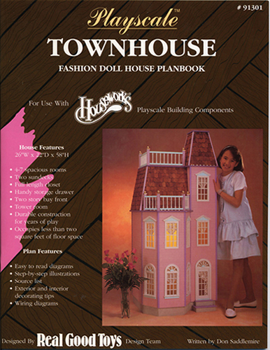 Dollhouse Miniature Playscale: Victorian Townhouse Plan book