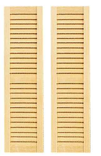 "Dollhouse Miniature 1/2"" Scale: Louvered Shutter 2Pk"