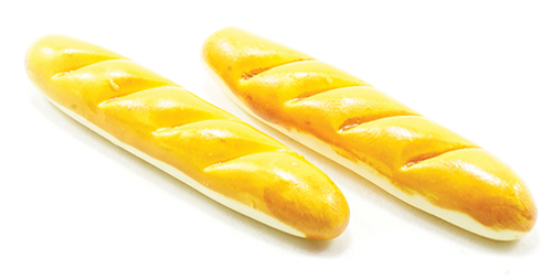 Dollhouse Miniature French Bread, 2/Pk