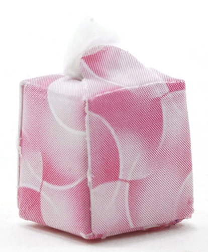 Dollhouse Miniature Box Of Tissues, 1Pc Assorted Pink Or Green