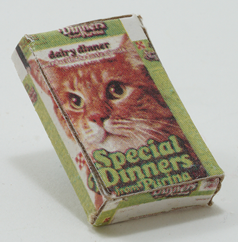 Dollhouse Miniature Box Of Cat Food