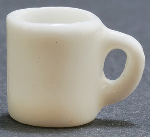 Dollhouse Miniature White Coffee Mug