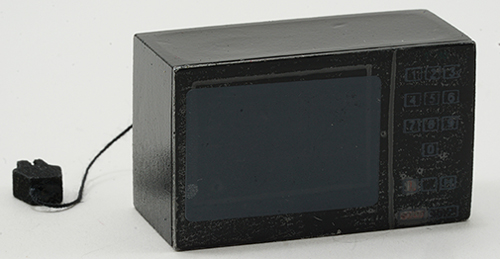 Dollhouse Miniature Microwave W/Cord Assorted Black Or Cream